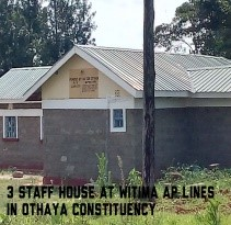 Witima Ap lines construction of staff houses